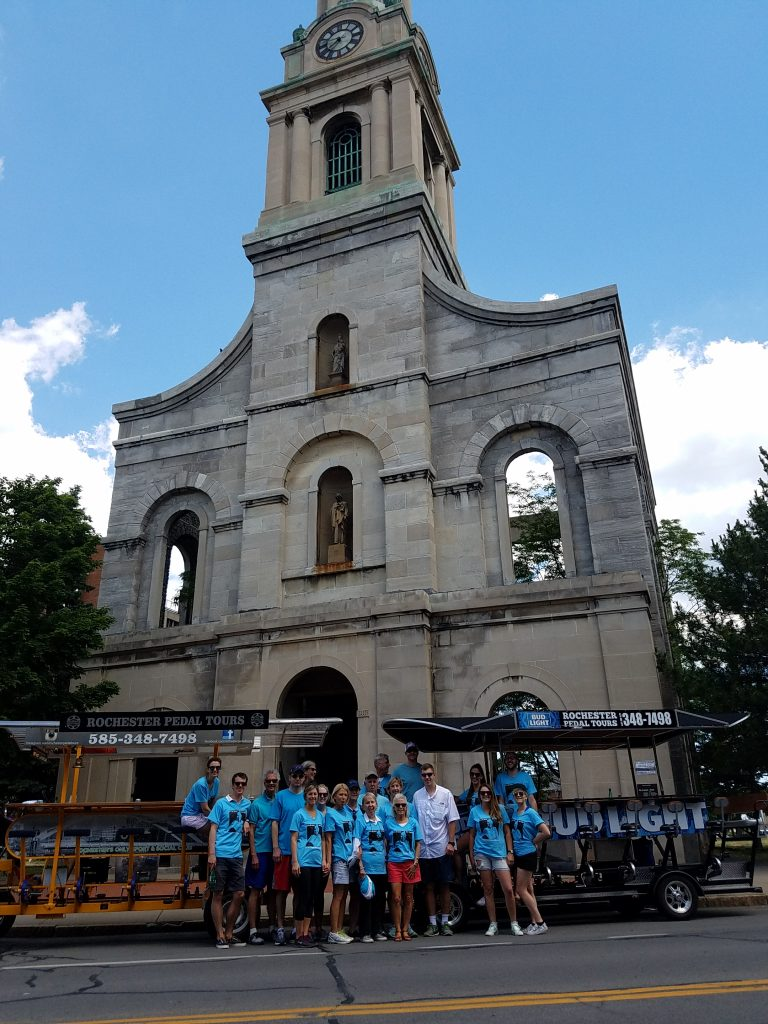 2 Bike Tour in front of St Joseph's Cathedral