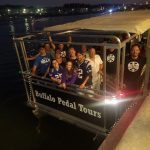 Rochester Pedal Tours Cycle Boat Tour at Night Summer 2017